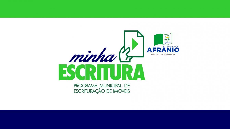 Prefeitura Municipal de Afrânio, Lança o Programa Minha Escritura