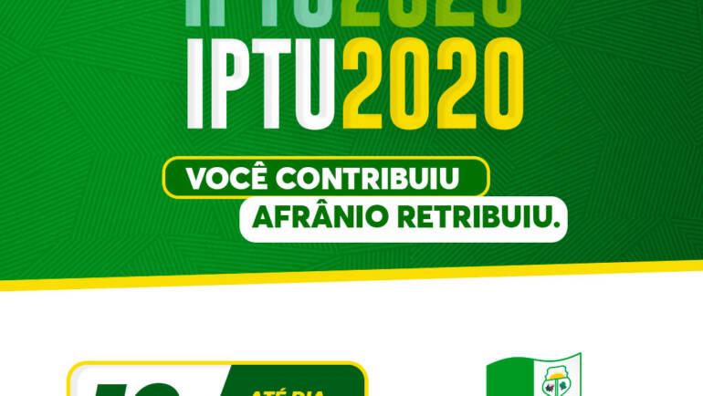 Afrânio lança Campanha de IPTU 2020